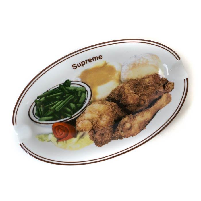 Supreme / シュプリームChicken Dinner Plate Ashtray / チキン ディナー プレート アシュトレイWhite / ホワイト 白 灰皿2018SS 国内正規品 新古品【中古】