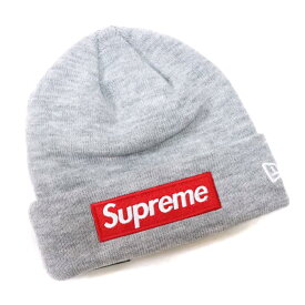 中古 Supreme x New Era   シュプリーム ニューエラBox Logo Beanie   ボックス ロゴ ビーニーHeather  Grey   ヘザーグレー 灰2018AW 正規品 新古品 中古  ab2b24a6d53c