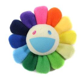 村上隆/ TAKASHI MURAKAMI Flower Keychain Badge /フラワー キーチェーン バッジRainbow & White / レインボー ホワイト 白 8cmサイズKaikai Kiki 2018AW 国内正規品 新古品【中古】