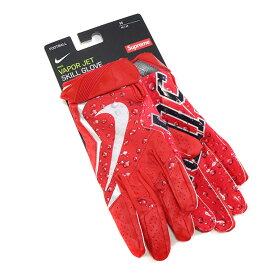 Supreme x NIKE / シュプリーム ナイキVapor Jet Football Glove / ヴェイパー ジェット フットボール グローブRed / レッド 赤2018AW 国内正規品 新古品【中古】