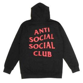 即日発送可能 ANTI SOCIAL SOCIAL CLUB / アンチ ソーシャル ソーシャル クラブTYPE R HOODIE / タイプR フーディ パーカーBLACK / ブラック 黒ASSC 正規品 新古品【中古】