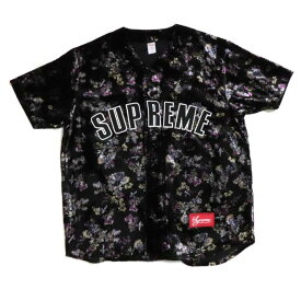 Supreme / シュプリームFloral Velour Baseball Jersey / フローラル ベロア ベースボール ジャージーBlack / ブラック 黒2019AW 国内正規品 新古品【中古】