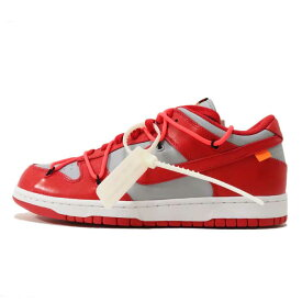 OFF-WHITE VIRGIL ABLOH × NIKE / オフホワイト ヴァージル アブロー × ナイキDUNK LOW / ダンク ローUNIVERSITY RED/WOLF GREY 【CT0856-600】2019 国内正規品 新古品【中古】