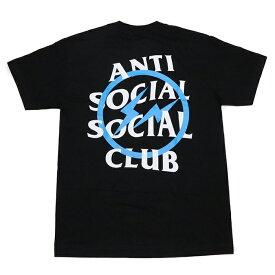 Fragment Design × ANTI SOCIAL SOCIAL CLUB /フラグメントデザイン × アンチ ソーシャル ソーシャル クラブBLUE BOLT TEE /ブルー ボルト TシャツBLACK / ブラック 黒2019AW 正規品 新古品【中古】