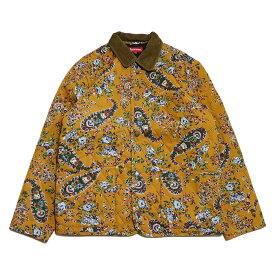 Supreme / シュプリームQuilted Paisley Jacket / キルテッド ペイズリー ジャケットMustard Paisley / マスタード ペイズリー2019AW 国内正規品 新古品【中古】