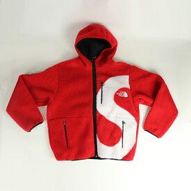 Supreme x THE NORTH FACE / シュプリーム ザ ノースフェイスS Logo Hooded Fleece Jacket / Sロゴ フーディ フリース ジャケット Red / レッド 赤2020FW 国内正規品 タグ付き 新古品【中古】