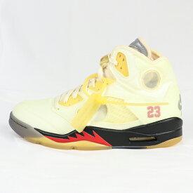 Nike × OFF-WHITE / ナイキ × オフホワイト Jordan 5 Retro / ジョーダン ファイブ レトロSail / セイル 【DH8565-100】2020 正規品 新古品【中古】