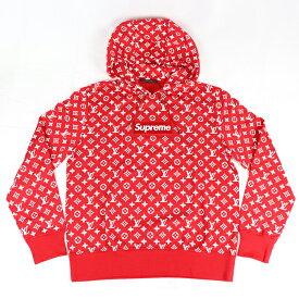Supreme x LOUIS VUITTON / シュプリーム x ルイ・ヴィトン BOX LOGO Hooded Sweatshirt/ ボックスロゴ フーディー パーカーRed / レッド2017〜2018AW 国内正規品 新古品【中古】