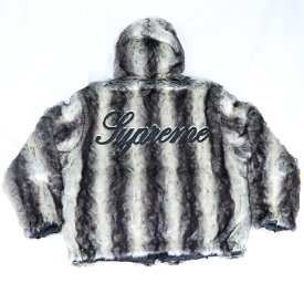 Supreme/ シュプリーム Fuax Fur Reversible Hooded Jacket / フォックス ファー リバーシブル ジャケット Black / ブラック 黒2020FW 国内正規品 新古品【中古】