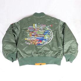 Supreme/ シュプリーム Globe MA-1 Jacket/ グローブ MA-1 ジャケットOlive / オリーブ 緑 2020FW 国内正規品 新古品【中古】