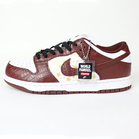 2021SS Supreme × Nike SB Dunk Low / Blown Stars / ブラウン スター 【DH3228-103】国内正規品 新古品【中古】