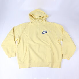 Supreme Nike Half Zip Hooded Sweatshirt Pale Yellow /シュプリーム ナイキ ハーフ ジップ フーデッド スウェットシャツ ペール イエロー2021SS 国内正規品 新古品【中古】