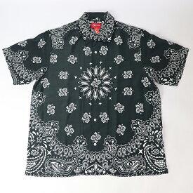 2021SS Supreme Bandana Silk S/S Shirt Black /シュプリーム バンダナ シルク S/S シャツ ブラック 黒 2021SS 国内正規品 新古品【中古】