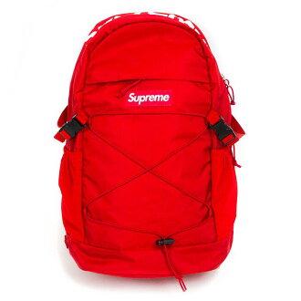 Supreme/shupurimu Backpack 210 Denier Cordura/bakkupakkukodeyuraryukku Red/红红16SS新古董