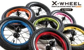 daddylab X-WHEEL Light エックスホイールライト+タイヤセット 片輪【ストライダーカスタムパーツ】