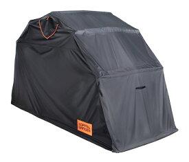 自転車 バイク 保管 簡易型ガレージ テント DOPPELGANGER ドッペルギャンガー DCC374L-BK ストレージバイクシェルター2(L)【単品・本州送料無料】
