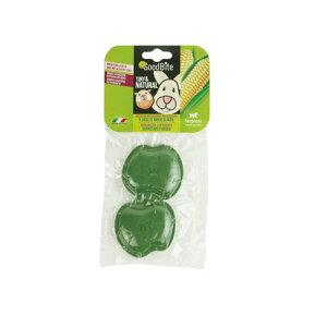 □イタリアferplast社製 コーンスターチベースのチューイングトイ グッドバイト 小動物用 アップル 2個入り