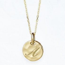 K18Gold 「イニシャルコイン」ネックレス ペンダント星座シンボル 刻印 お誕生石入れられます フォントも選べますベビーギフト 出産祝い プレゼント 18金