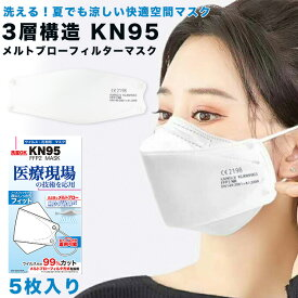 kn95 KF94 空間マスク 3Dマスク 快適空間マスクKN95マスク メルトブロー マスク 5枚入り メルトブロー 洗えるマスク