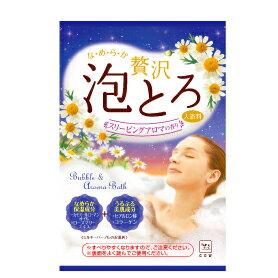 牛乳石鹸 お湯物語 贅沢泡とろ 入浴料 スリーピングアロマ 30g (16個までネコポス可)
