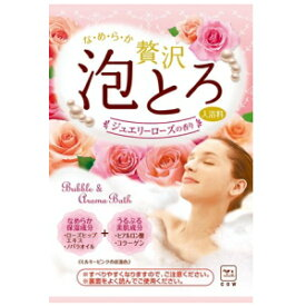 牛乳石鹸 お湯物語 贅沢泡とろ 入浴料 ジュエリーローズ 30g (16個までネコポス可)