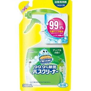 ジョンソン スクラビングバブル 99.9%除菌 バスクリーナー アップルの香り つめかえ用 350ml