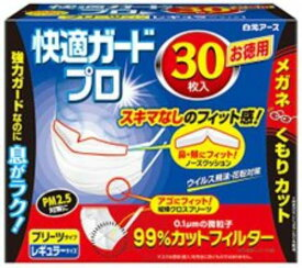 白元アース 快適ガードプロ プリーツタイプ レギュラーサイズ30枚入 10個セット※お1人様2セットまで