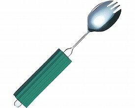 曲げれるスプーン オールステンレスハンドル スプーン・フォーク兼用大 平型スポンジ付き 2N-3 斉藤工業介護用品 介護 食器 食事用品 スポーク