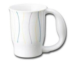 ほのぼのマグカップ カーブ 724 青芳製作所介護 食器 マグカップ コップ 高齢者 介護用品