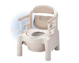 安寿 ポータブルトイレ ちびくまくん FX-CP 標準タイプ 533-550 ベージュ アロン化成送料無料 介護用品 樹脂製ポータブルトイレ 小型 コンパクト 福祉用具 高齢者