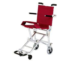 簡易車椅子 携帯車いす NAH-207 超軽量・ワンタッチ折りたたみ式 日進医療器 車イス 車いす 車椅子 軽量 折り畳み 旅行 持ち運び便利 介護用品 送料無料 シンプルデザイン アルミフレーム