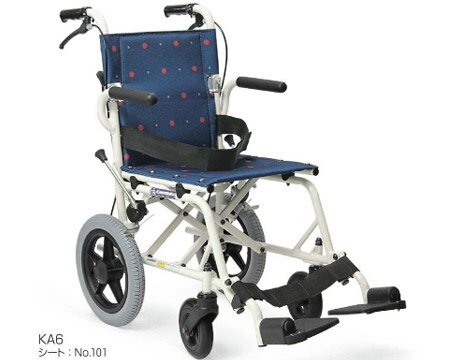 ▲車椅子 軽量 折り畳み 旅行用介助車椅子KA6 カワムラサイクル車椅子 車イス 車いす ノーパンクタイヤ お出かけ コンパクト 介護用品