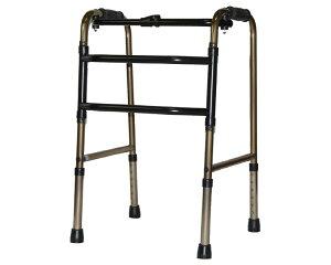 折りたたみ式コンパクト交互歩行器 ブロンズ C2023C アクションジャパン歩行器 折りたたみ 折畳 歩行補助 歩行サポート シニア 高齢者 介護用品