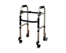 歩行器 ▲ミニフレームウォーカー・キャスターモデル S WFM-4262SW3GW シンエンス歩行器 介護 歩行補助 キャスター付き 手押し車 老人 介護用品