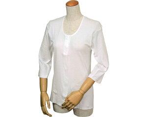 婦人イージートゥウェア 七分袖前開きシャツ(マジックテープ式) M・L WL-110 ウエル 【RCP】【介護用品】