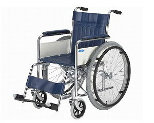 ▲車椅子 スチール製標準型車いす ND-1(TY-1の後継商品) 日進医療器介護用品 車いす 自走式車椅子 車イス 歩行補助 福祉用具 高齢者