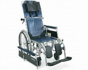 スチール製フルリクライニング自走用車椅子 RR42-N 介助ブレーキ無(RR40-Nの後継商品です) カワムラサイクル介護用品 車いす 車イス 介護タクシー 歩行補助