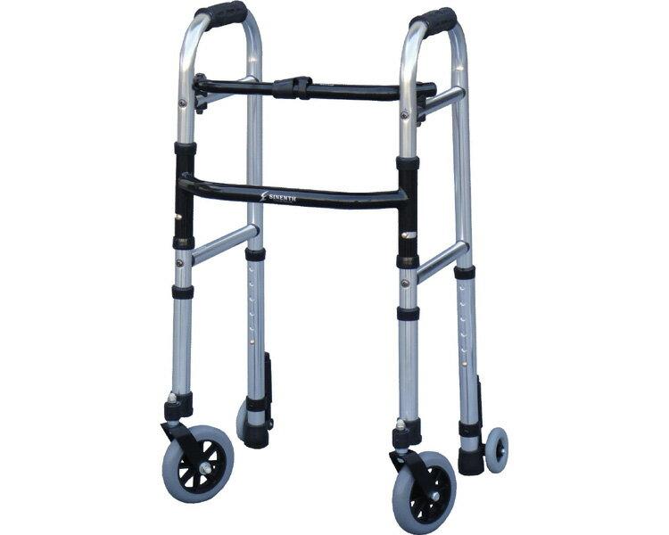 歩行器 ミニフレームウォーカー・キャスターモデル M WFM-4262SW5GW3 シンエンス歩行器 軽量 介護 歩行車 介護用品 歩行器 歩行補助