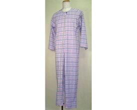 介護寝巻き マンラク1型ねまき 夏用 1201 萬楽介護 ねまき パジャマ つなぎねまき つなぎタイプ 高齢者 介護衣類 フルオープンタイプ 介護用品