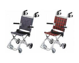 ●介助式小型車いす チビポン HTB-AC1 美和商事介護用品 コンパクト車椅子 携帯車イス 介助用 旅行