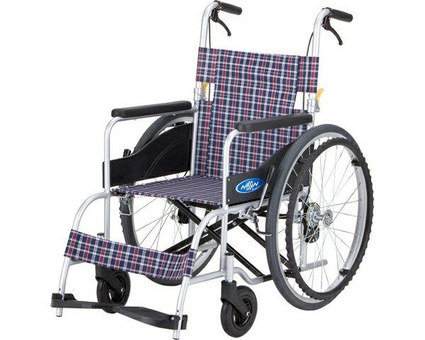 アルミ自走車いす NEO-1S(ノーパンクタイヤ仕様) 日進医療器介護 自走式 車椅子 自走用 車椅子 車イス 歩行補助 軽量 アルミ製 ハイポリマータイヤ 低床タイプ 介助ブレーキ付き