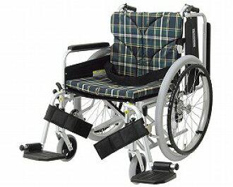 自己行走、看護兼用鋁製造輪椅KA822-45B-H高地板類型搖動in·出界式