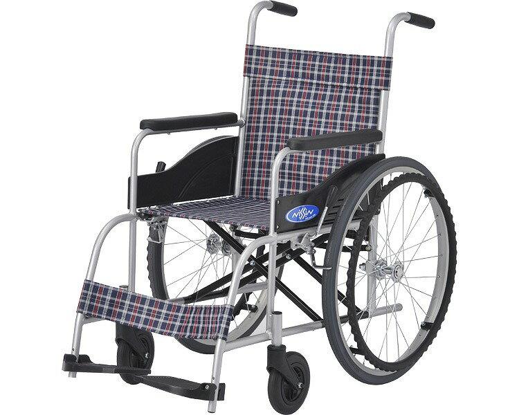 アルミ自走車いす NEO-0/座幅40cm 背固定・介助ブレーキ無し 日進医療器 【RCP】【smtb-kd】【介護用品】【自走式車椅子】【自走用車イス】