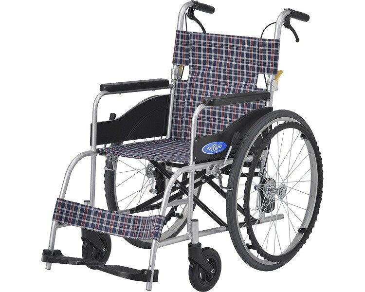 アルミ自走車いす NEO-1 座幅40cm 日進医療器介護用品 歩行補助 車イス 車椅子