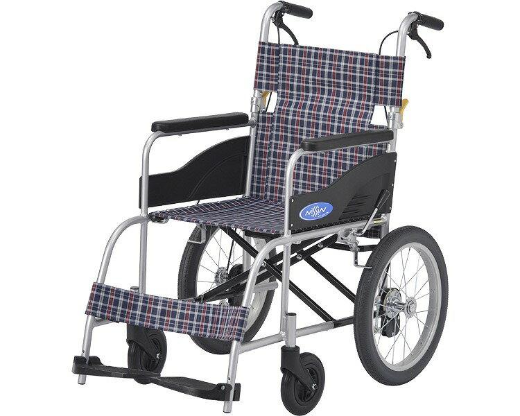 アルミ介助車いす NEO-2 座幅40cm 日進医療器介護用品 介助式車椅子 介助用車イス