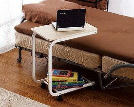 ▲サイドテーブル ST-60NA 介援隊ベッド テーブル キャスター付き 介護 便利グッズ 介護用品 ベッド関連 机