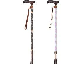 輝きステッキ 伸縮タイプ MC-920 MC-9040 モリト介護 杖 ステッキ 歩行補助 花柄 おしゃれ 高齢者 安心 杖 介護用品 送料無料