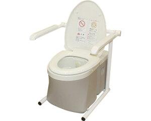 水洗式ポータブルトイレ 流せるポータくん3号 標準便座タイプ SPF15-3 アム介護用品 ポータブルトイレ 水洗 ベッドサイド 家庭用 高齢者 介護用品