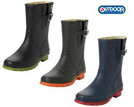 アウトドアプロダクツ 0130 レインブーツ レディース ODB0130 OUTDOOR PRODUCTS雨靴 インヒール 防水 ミドル丈 ラバーブーツ 美脚