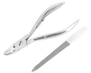 ニッパー型爪切り 爪仕上げヤスリ付 F-21 スミカマ介護用品